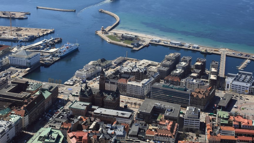SeaU Helsingborg från ovan. Fotograf: Perry Nordeng