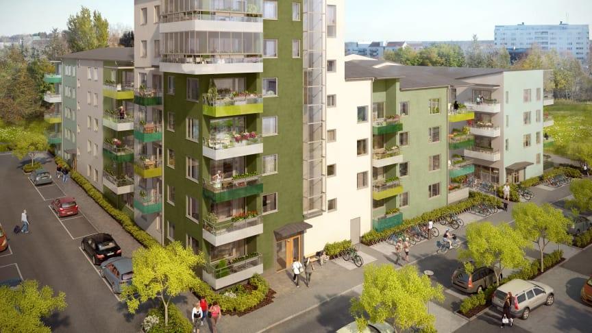 Brf Solskenet i Uppsala miljöcerifierat i silverklass