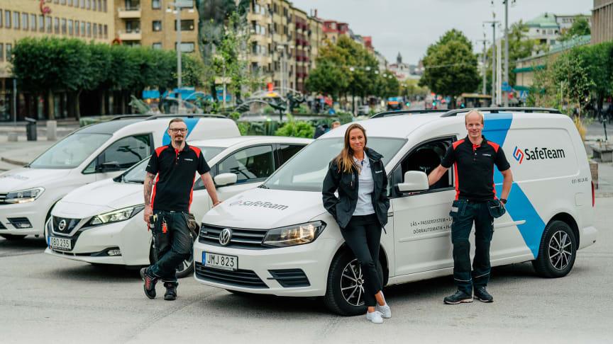 Robert, Maggan och Martijn är tre av SafeTeams förare som kör miljövänligt.