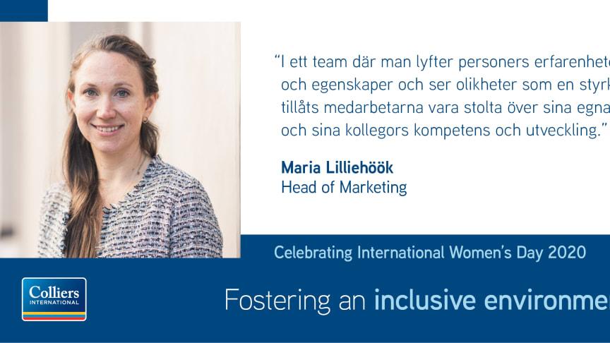 Colliers uppmärksammar Internationella kvinnodagen under #EachforEqual