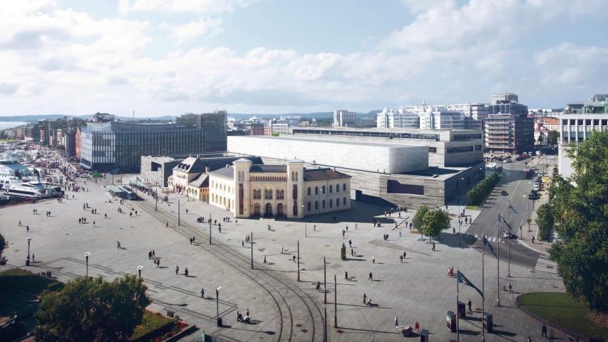 Nasjonalmuseets åpningsutstilling med norsk samtidskunst skal vises over 2400 kvadratmeter i Lyshallen på toppen av nybygget.