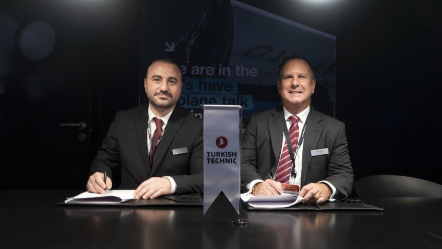 From left: Irfan Demir, the CCO of Turkish Technic, and Terry Stone, Satair's Managing Director and Head of Sales and Support, Europe, Middle East & Africa.