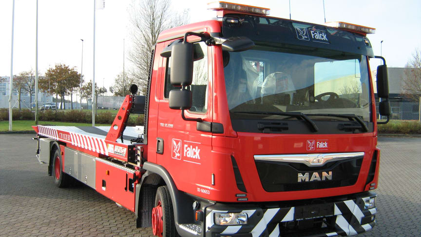 138 new Falck vehicles improve roadside assistance in Denmark