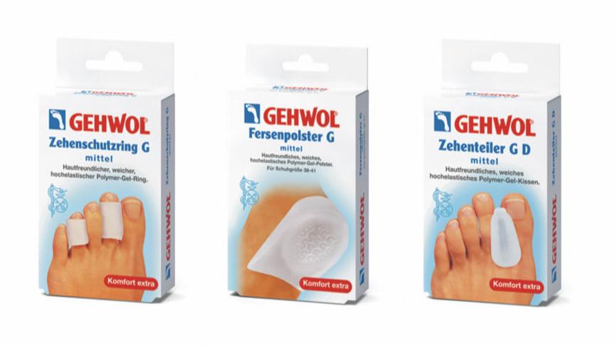 GEHWOL Druckschutz-Sortiment. Bild: GEHWOL