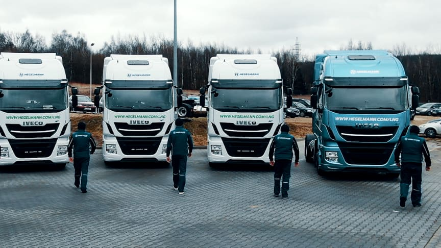 German-based cargo and freight company Hegelmann Group has acquired five LNG-powered trucks from IVECO, as a part of its plan to have sustainable vehicles make up at least 20 % of its total fleet by 2025.