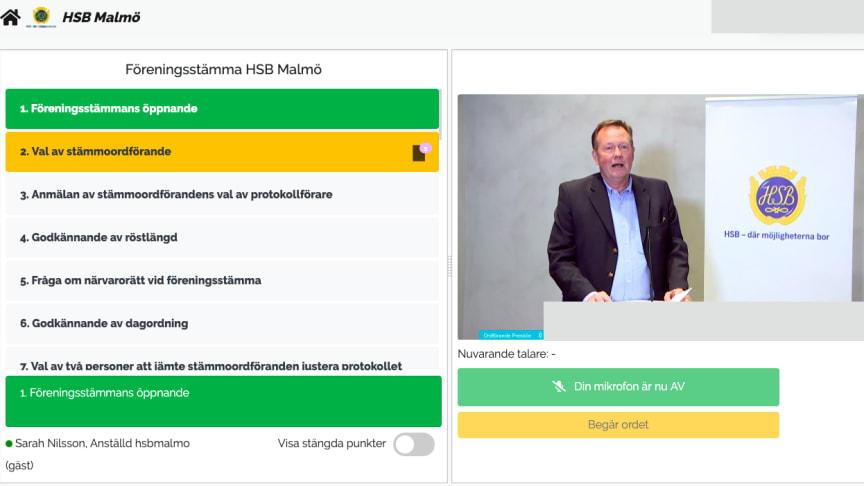HSB Malmös stämma 2020
