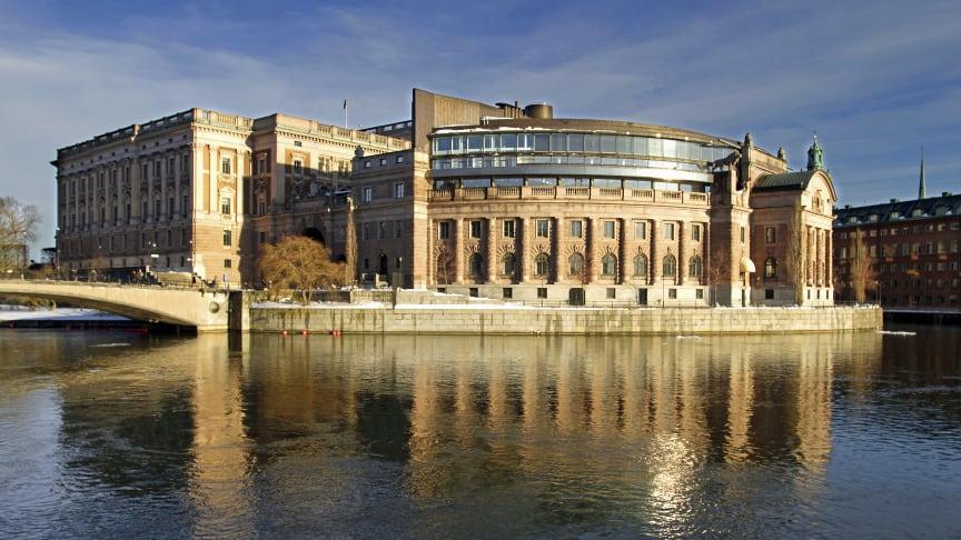 Riksdagshuset i Stockholm. Foto: Michael Erhardsson/Mostphotos