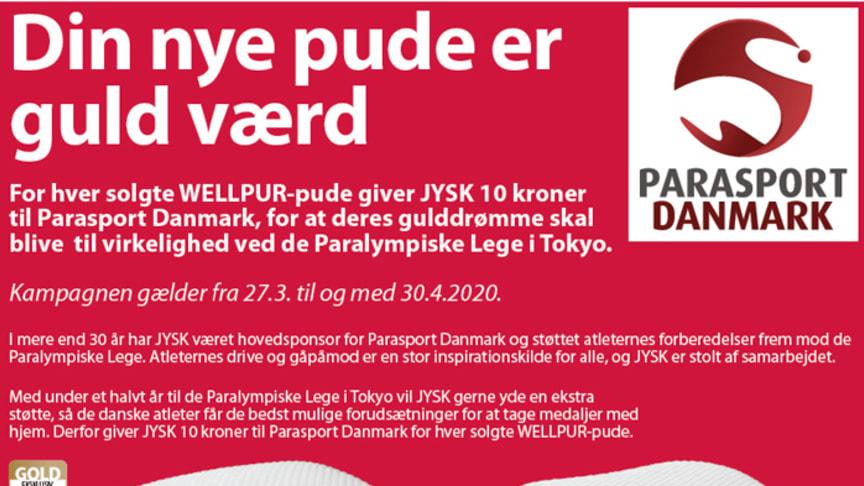 JYSK støtter Parasport Danmark med ny kampagne