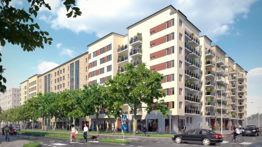 I centrala Uppsala byggs just nu 454 hyresrätter i Senapsfabriken och som ingår i förvaltningsuppdraget för SEB's bostadsfonder. Inflyttningen startar under sommaren 2018.