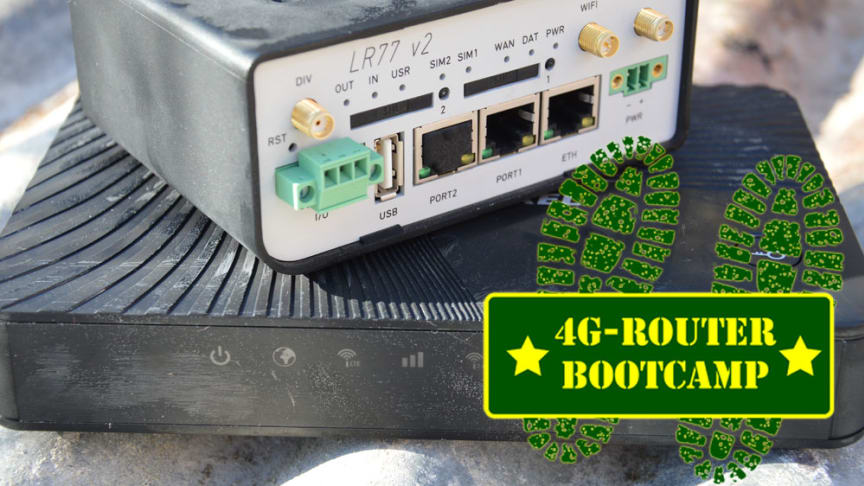 4G routertest: router bootcamp 2016