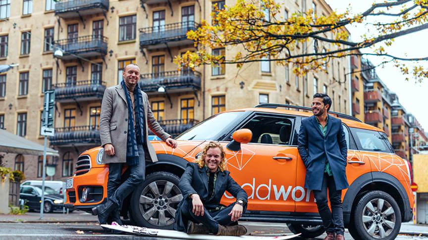 Från vänster Niklas Kekonius, Charles Sinclair och Poyan Karimi