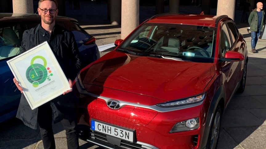 Hyundai Kona Electric i topp när Miljöbästa Bil 2019 utses