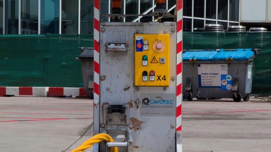 A Cavotec pop-up pit at Frankfurt International Airport
