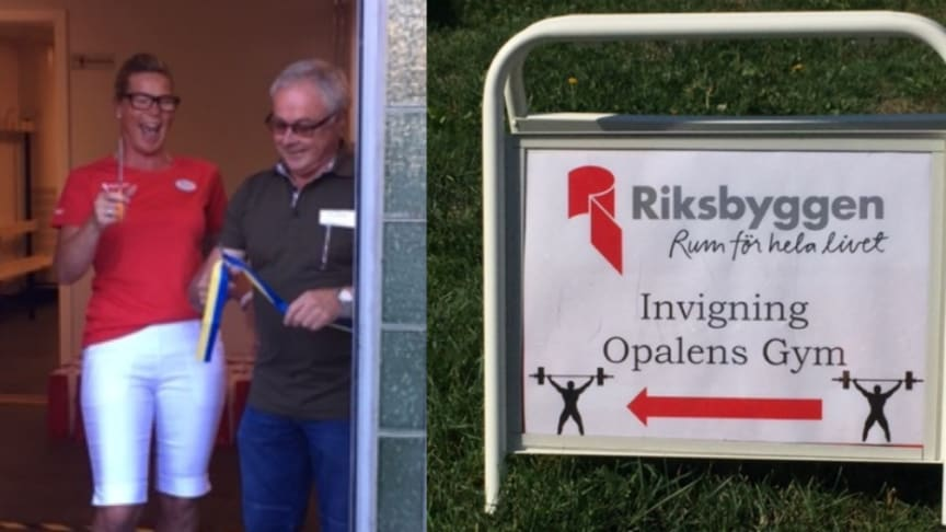 Succéinvigning för Brf Opalens nya gym
