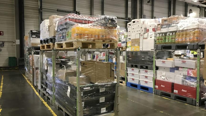 SpaceInvader i brug hos Norges største fødevaredistributør ASKO. Gods klar til læsning på lastbil.