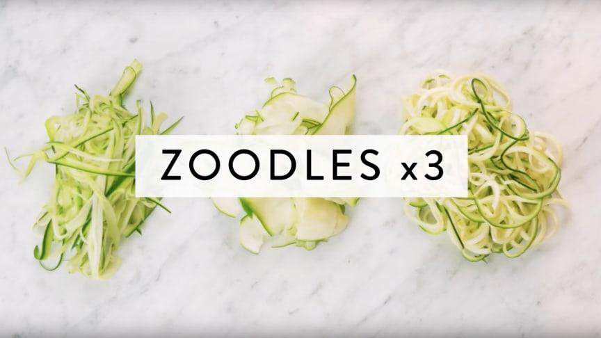 Tre sorters zoodles