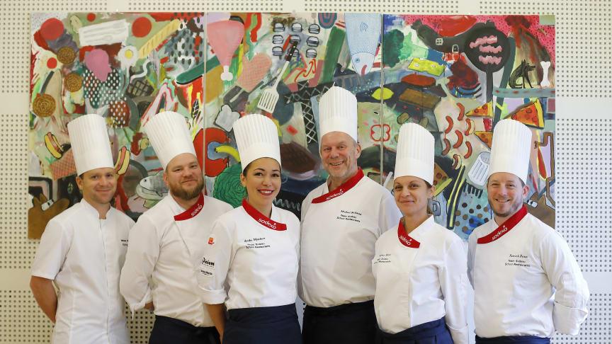 Lagmedlemmar Team Sodexo School Restaurants. Fotograf: Per Erik Berglund
