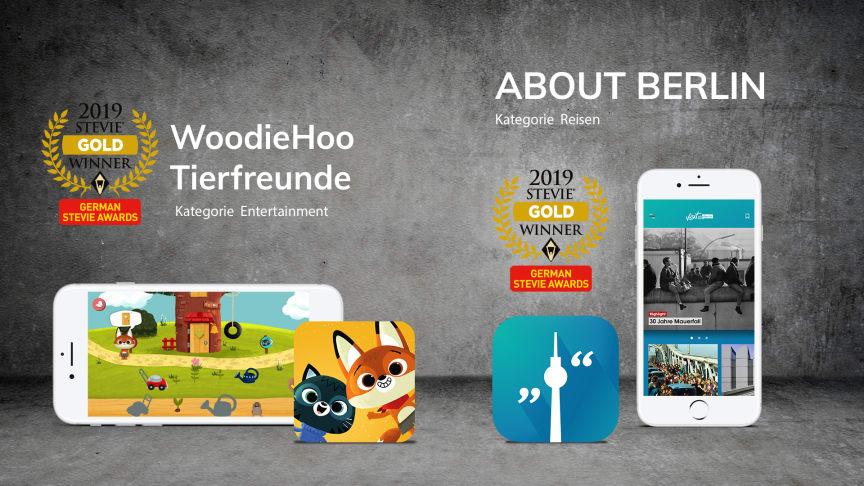 Appsfactory holt Doppelgold bei den German Stevie Awards 2019