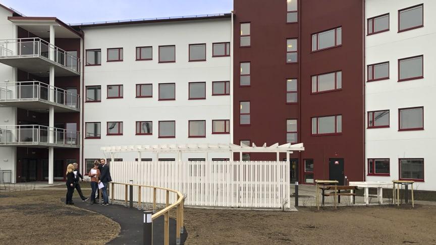 Samhällsfastigheten Björksäter i Hässleholm står nu inflyttningsredo för hyresgästen Attendo.