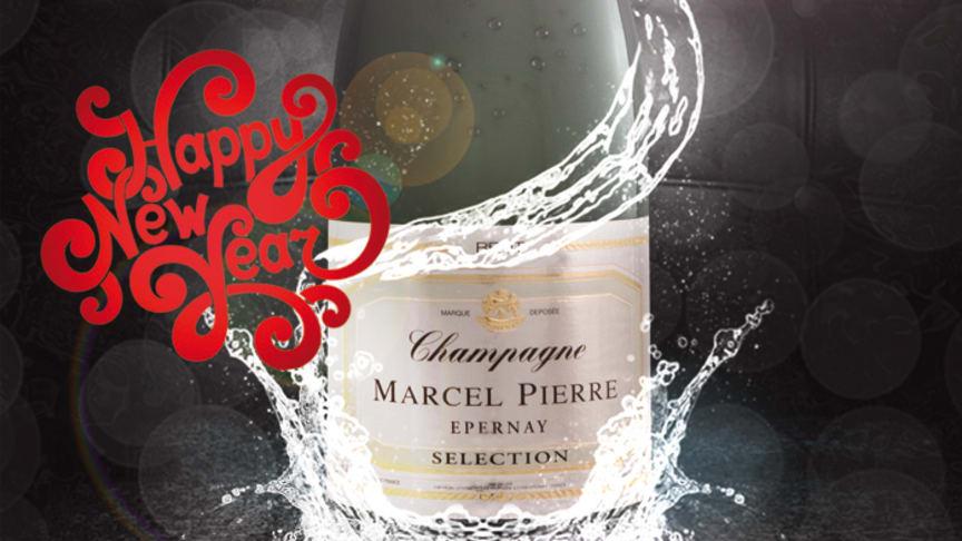 Vi ønsker alle en boblende jul og et sprudlende nytt år.
