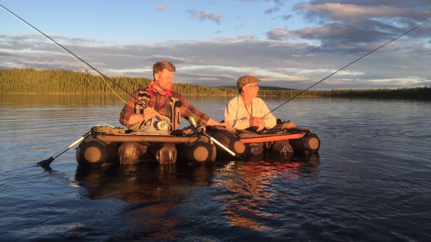 Fredrik Löwgren, till vänster, och Johan Malm kommer att hålla ett fiskesnack på Stora Nolia 13 augusti i föreläsningslokal Blomqvist.
