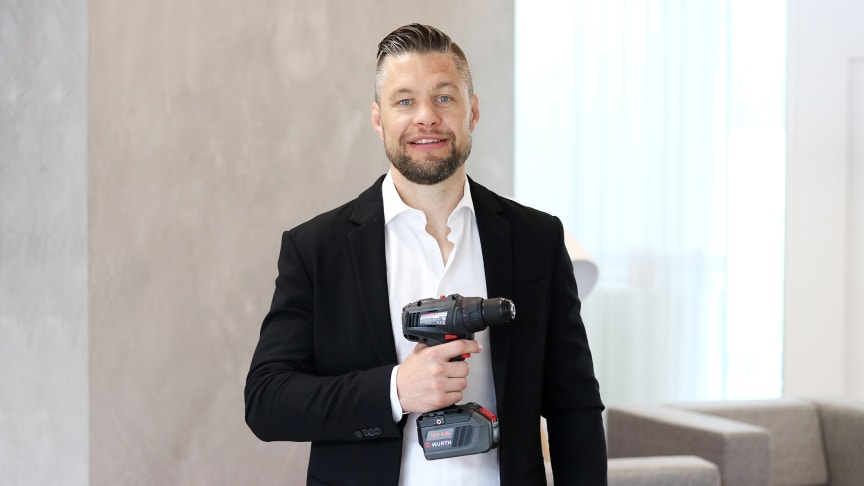 Niklas Andersson, Produktchef Maskiner Würth Svenska AB, ser fram emot den svenska lanseringen.