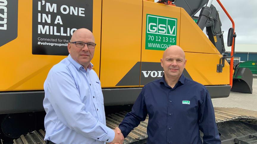Rene Schelhase, säljare på Volvo och  Jesper Lykke Jensen, operativ chef på GSV.