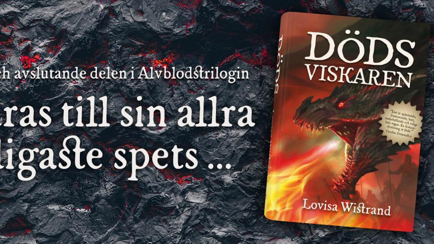 Dödsviskaren är den tredje och avslutande delen i Lovisa Wistrands Alvblodstrilogi.