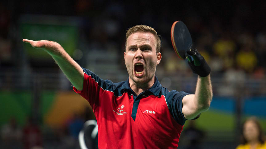 PL Guldvinder Peter Rosenmeier til Paralympiske Lege i Rio 2016. (Foto: Lars Møller)