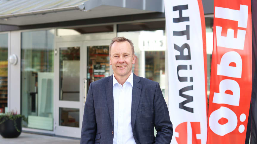 Jan Kahlin, chef för butik på Würth ser fram emot invigningen av Würth i Växjö