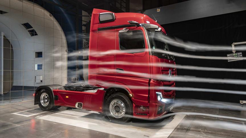 Den ny Actros er aerodynamisk som aldrig før
