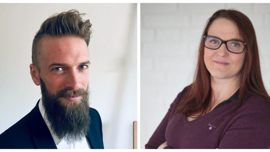 Resultatområdescheferna Per Pettersson och Marja Olivendal Giheden kan glädas åt kvalitetsauktorisationen.
