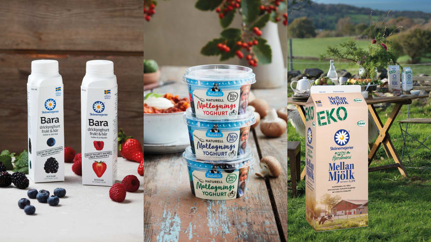Skånemejerier har stort fokus på förnyelsebara material och har under det senaste året lanserat bland annat drickyoghurt i kartongflaska och yoghurtbägare i träfiber.