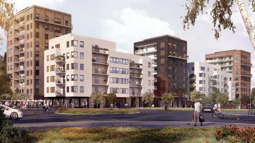 Riksbyggen uppför 183 bostadsrätter i tre etapper i Flemingsberg
