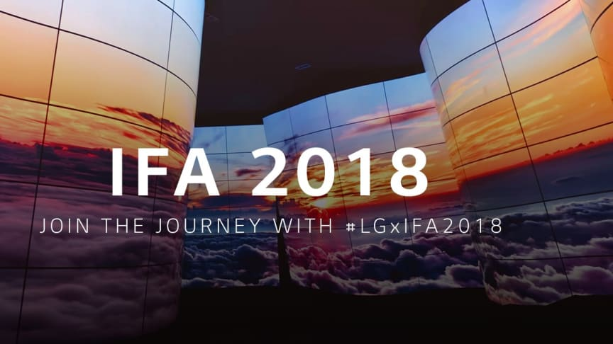 Nordic press kit: LG Electronics at IFA 2018