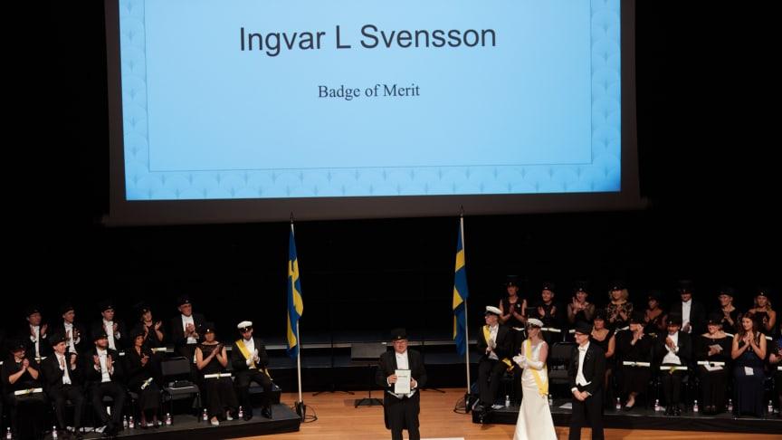 Jönköping University förtjänsttecken 2019; Ingvar L Svensson