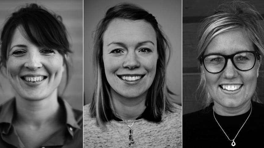 Anna Olofsson Frestadius, Julia Pearson och Agnes Jörgensen. Foto:  Robert Henriksson, Viktoria Lindqvist