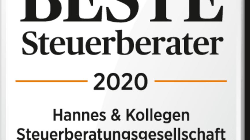 """Handelsblatt zeichnet uns erneut aus: """"Beste Steuerberater 2020"""": ETL Hannes & Kollegen ist wieder dabei!"""