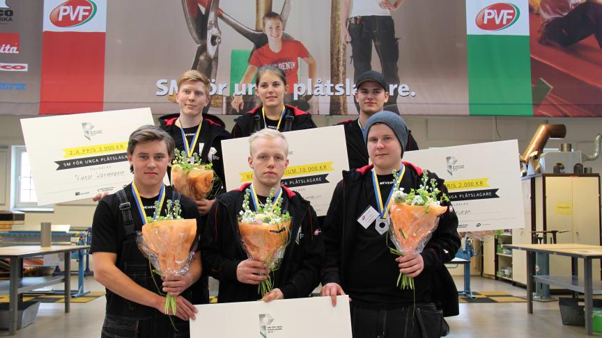 Final i SM för unga plåtslagare 2015: De sex finalisterna