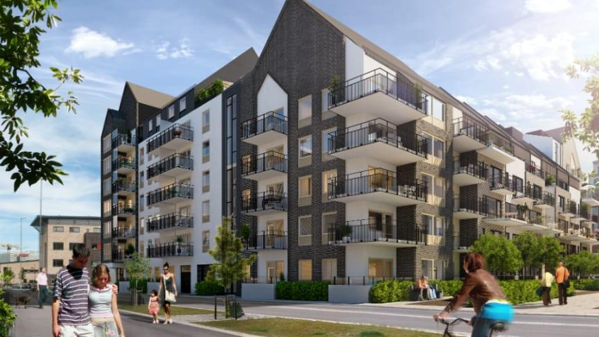 Riksbyggen säljstartar 153 bostadsrätter i Västra Hamnen, Malmö