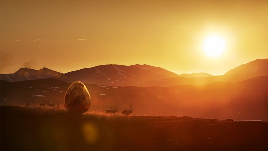 Solar Egg - solnedgång