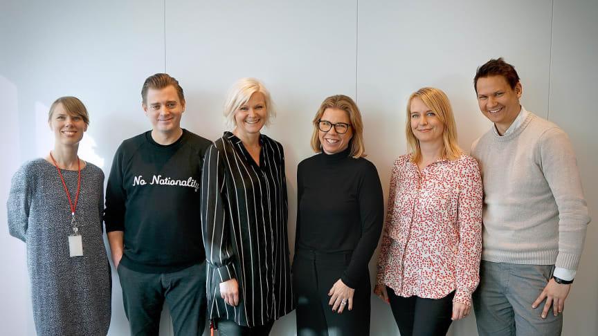 Fr vänster i bild: Jenny Cahier, Pär Stigenberg, Maria Nylén, Pernilla Nissler, Katja Engelhart, Tero Marjamäki