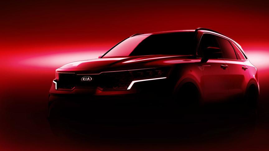 Första officiella bilderna på helt nya Kia Sorento