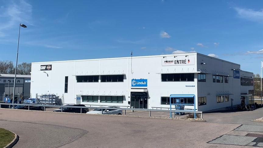 På Aminogatan 32 C i Mölndal ligger Lindabs nya proffsbutik.