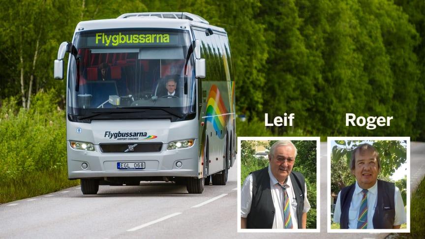 Leif och Roger är glada att få köra sommarfirare på Gotland i sommar!