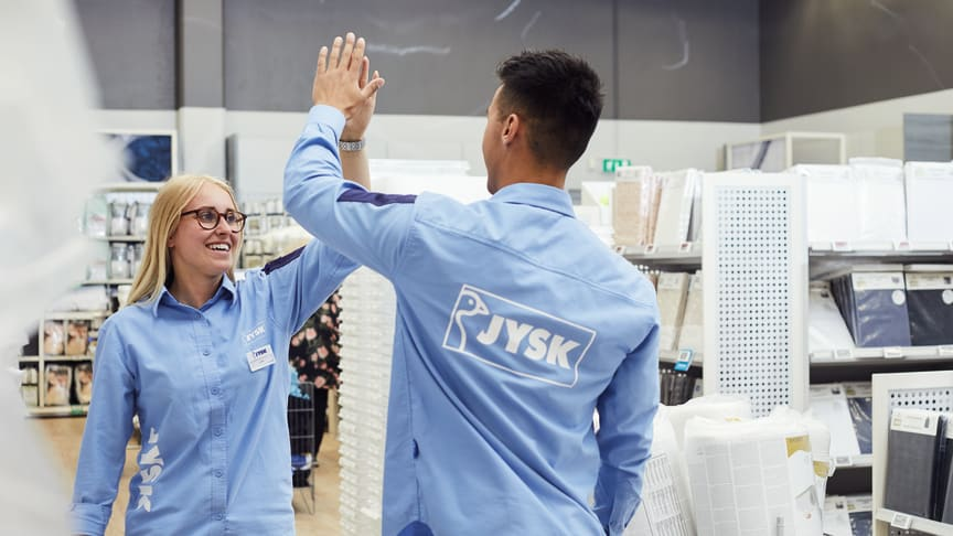 JYSK Sverige butiksmedarbetare