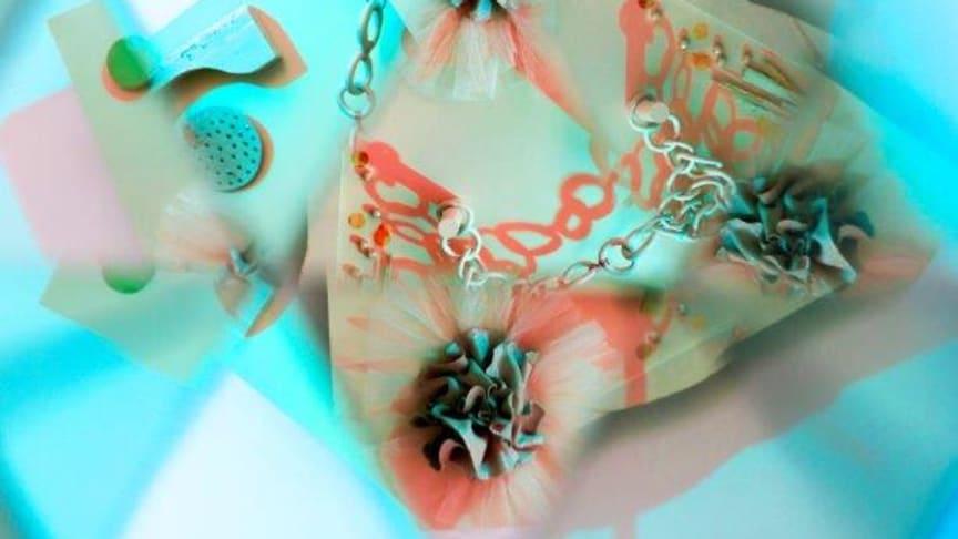 Utställningskonceptet Colour Emotions är skapat av Sara Garanty och visas under Stockholm Design Week på Hallwylska museets innergård.