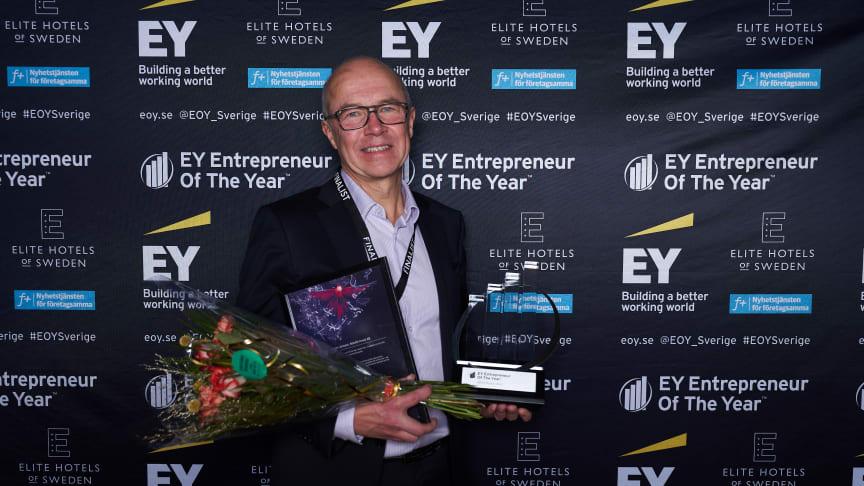 Anders Jonsson direkt efter utmärkelsen i Luleå