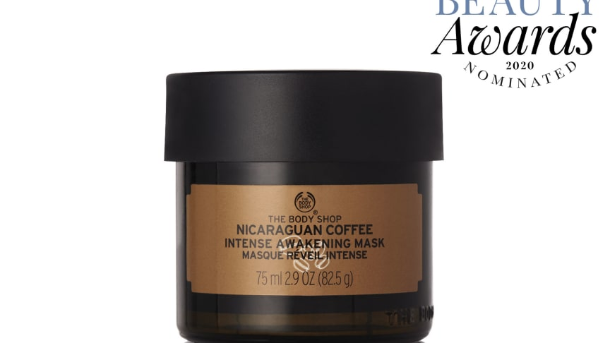 Nicaraguan Coffee Intense Awakening Mask kan vinna Bästa herrprodukt i Swedish Beauty Awards 2020.