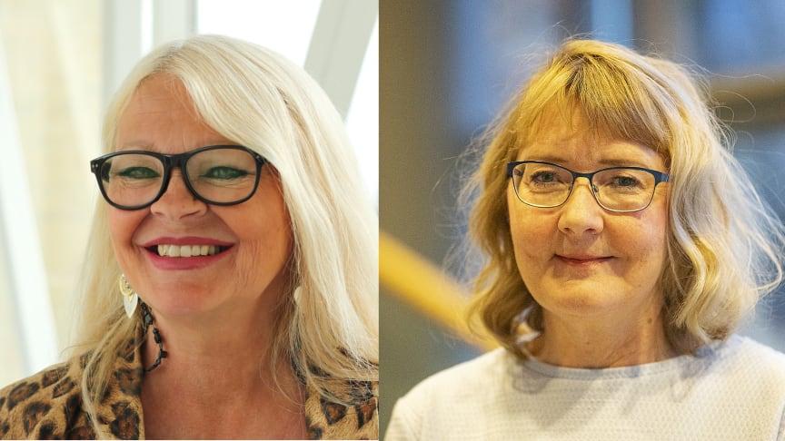 Från vänster: Marie Karlsson Tuula, professor i civilrätt och Helén Olsson, lektor i socialt arbete.